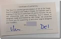 DSC 0118 thumb - 【RDA】「Van&Del Design Soul S」(バンアンドデルデザインソウルエス)レビュー。Van&Del Designの新型アトマイザーはBF対応ドリッパーで登場。3連イモネジデザインは継承。サイドエアフローだがその実力は如何に?【電子タバコ/VAPE/アトマイザー】