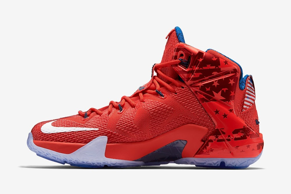 new concept 1ef24 6a479 ... LeBron XII 12 4th of July Release Reminder Nike LeBron XII 12 4th of  July From LeBron 12. 684593-616 Light Crimson Bright Crimson-Midnight Navy- White