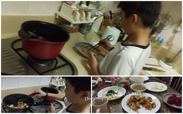 Monkey Boy frying chicken