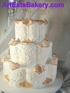 Blush Pink Two Tier Wedding Cake Wood Stump