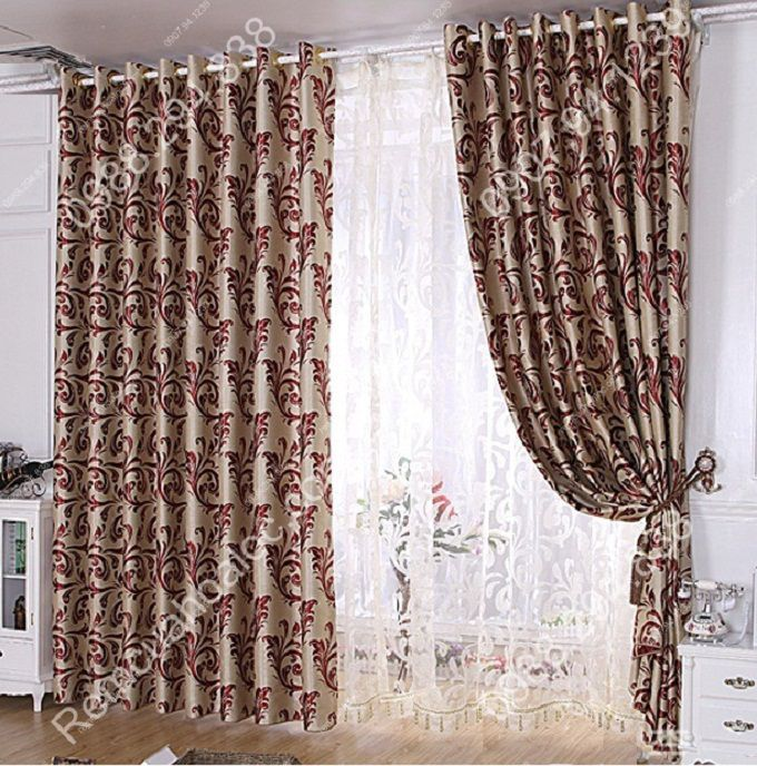 Rèm cửa sổ phòng ngủ đẹp vector cuốn 8