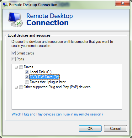 Access Local Drives From Remote Computer When Using Remote Desktop Connection