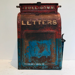 Antique Cast Iron US Post Office Mailbox