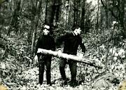 Новый способ рубки дров демонстрируют Гусев и Олейник фаза № 1