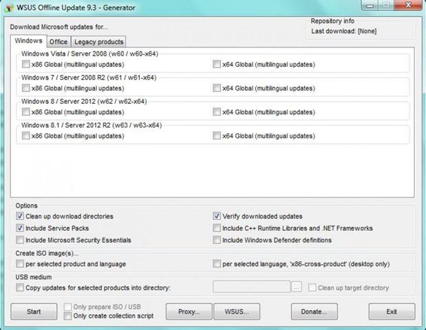 برنامج تحديث الويندوز وأوفيس بدون إنترنت WSUS Offline Update v10.6.2