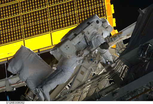 Bowen during EVA 1
