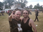 Meeting Andy from ALCHEMIST by chance at Hellfest!