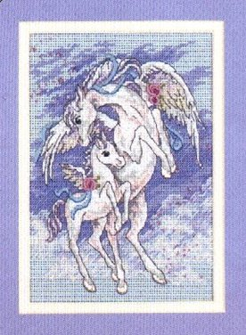 Pegasus and Coltcross stitch pattern