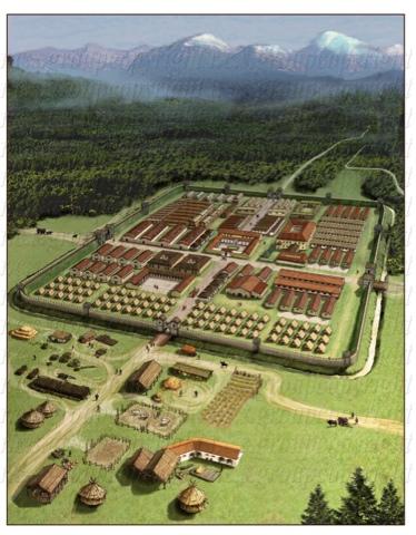 Roma - Recreación campamento romano en el limes - Historia de las civilizaciones