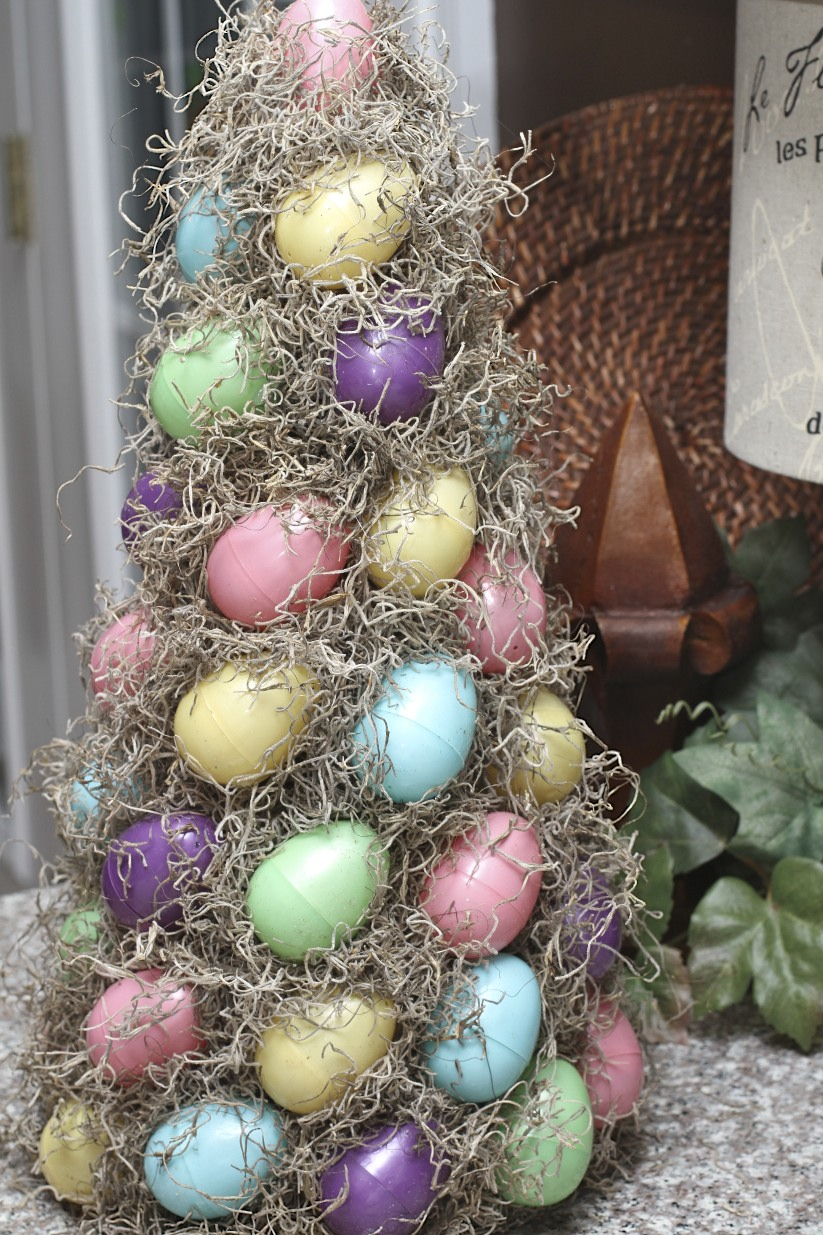 Love laughter decor easter egg topiary How to make an easter egg tree