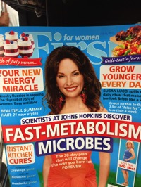Tabloid cover on microbes