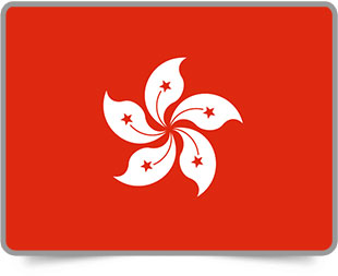 Hong Kong framed flag icons with box shadow