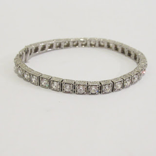 Sterling Silver and Clear Stone Bracelet