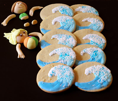 Wave cookies - withinthekitchen.blogspot.com