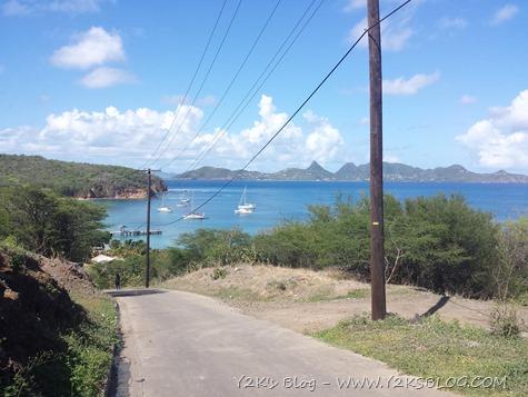 Saline Bay dalla collina - Mayreau - Grenadine