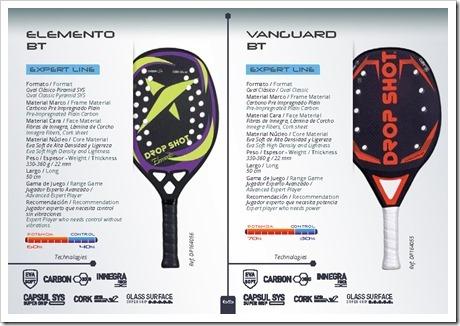 Modelos Elemento BT y Vanguard BT