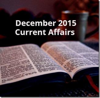 DECEMBER-2015 Current Affairs