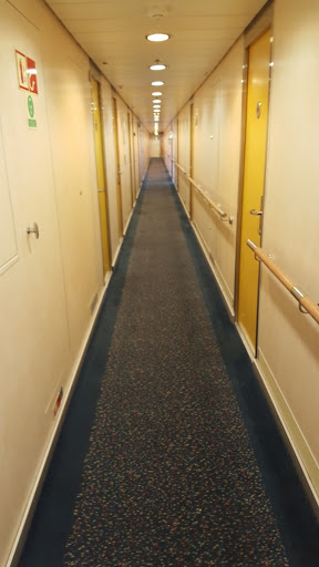 Hallway in Marine Atlantic Ferry to Newfoundland. Every Journey Matters: Marine Atlantic Ferries to Newfoundland