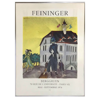Feininger Signed Exhibition Lithograph