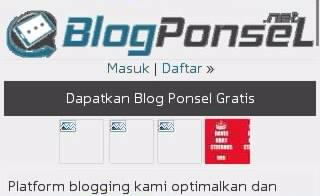 Tampilan Situs Blogponsel Lewat hp