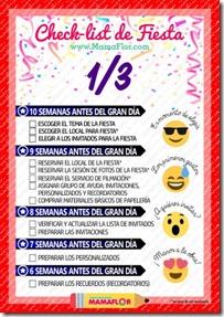 Check list Fiesta - hoja 1