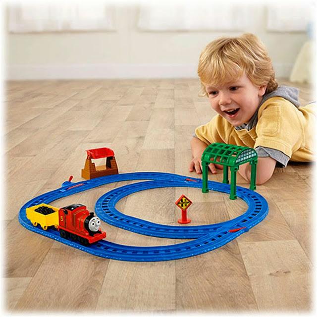 Đồ chơi Tàu hỏa James và đường ray trạm Knapford Fisher Price BGL97 tuyệt đối an toàn