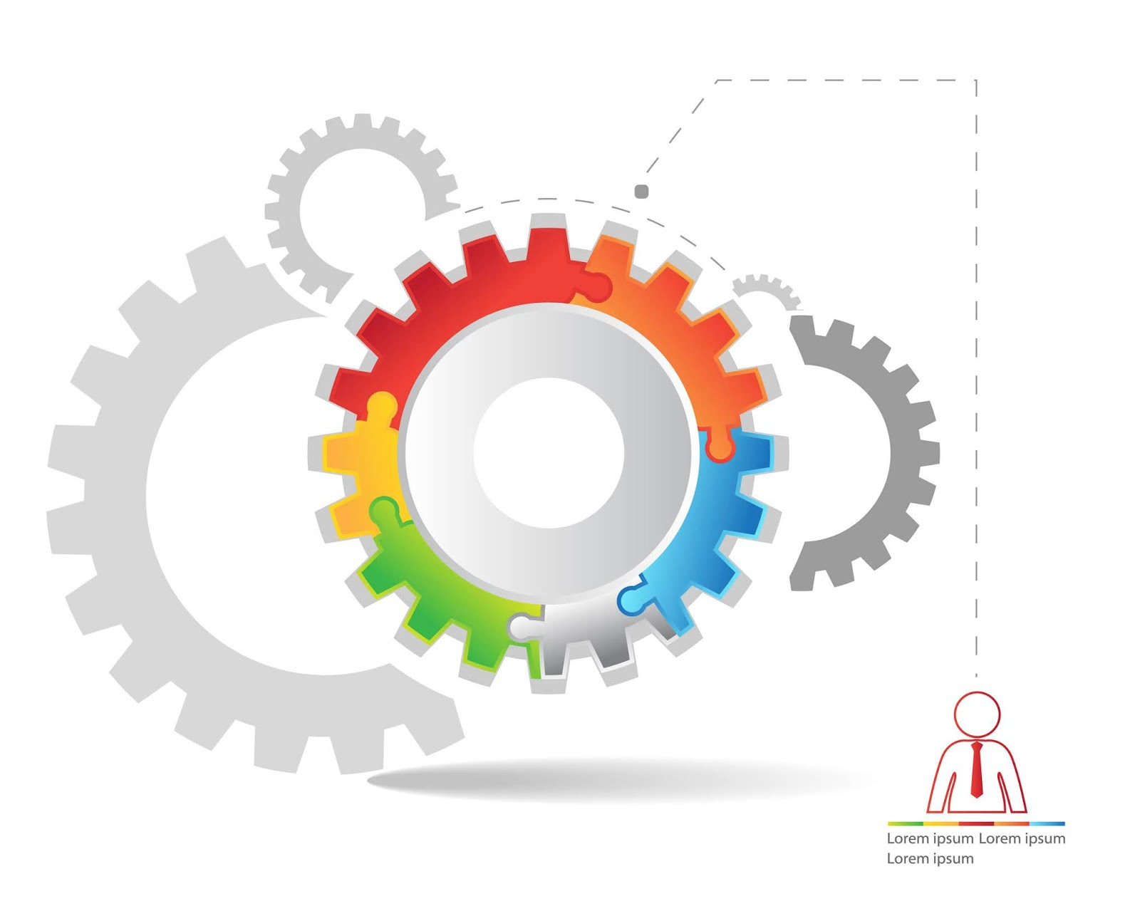 Vector Illustration Gears Free Download Vector CDR, AI, EPS and PNG Formats