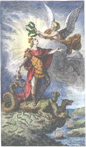Engraving From Sabine Stuart De Chevalier Discours Philosophique 1781, Alchemical And Hermetic Emblems 1