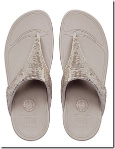 Fitflop Electra pale gold sandals