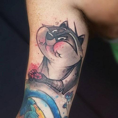 este_insolente_meeko_aquarela_tatuagem