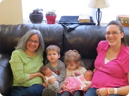 Grandma Fezzi and the Grandkids
