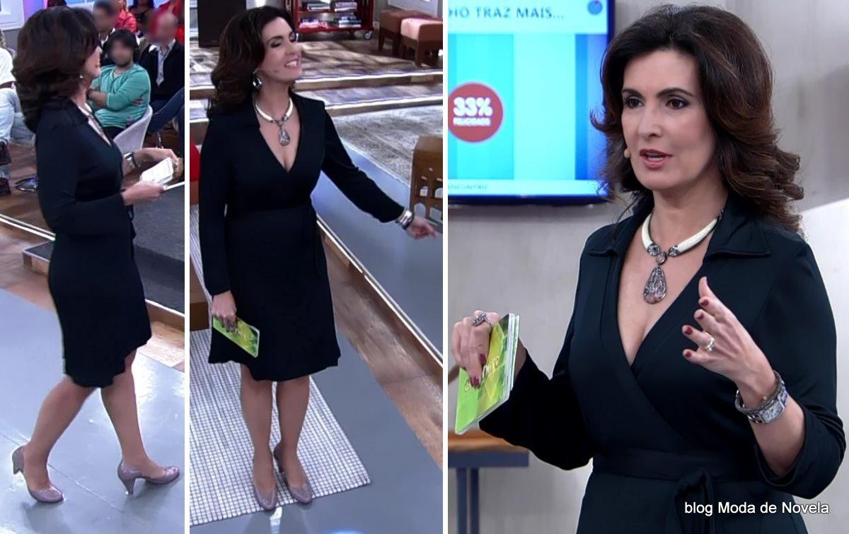 moda do programa Encontro - look da Fátima Bernardes dia 2 de junho