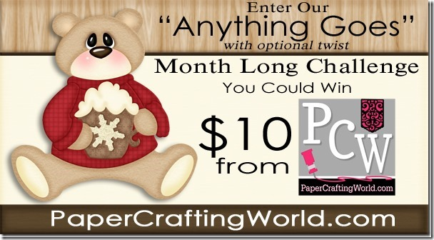 10-Gift Certificate to PaperCraftingWorld.com