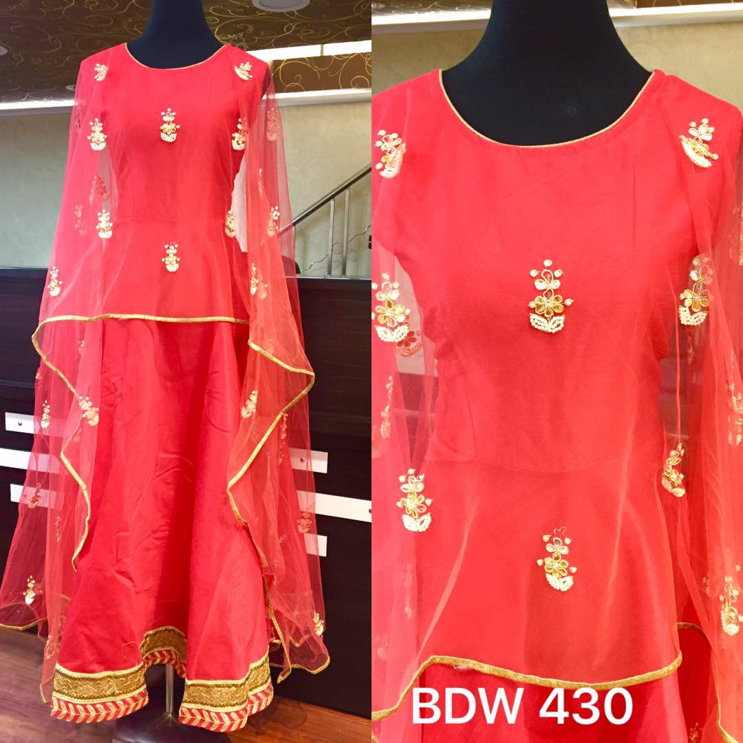 Rmk Silk Designer Double Shaded Net Crape Gown Rs 3900 Koyal Two