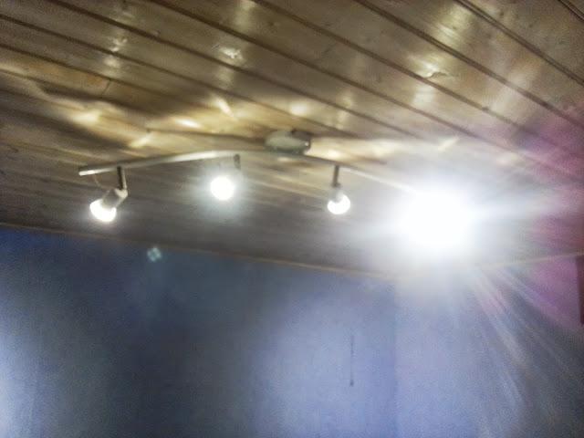 4 LED GU10 sur la Rampe