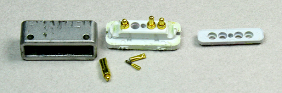 The spring-loaded 'pogo pins' inside a Magsafe connector.