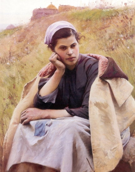 Charles Sprague Pearce - Girl in the Fields