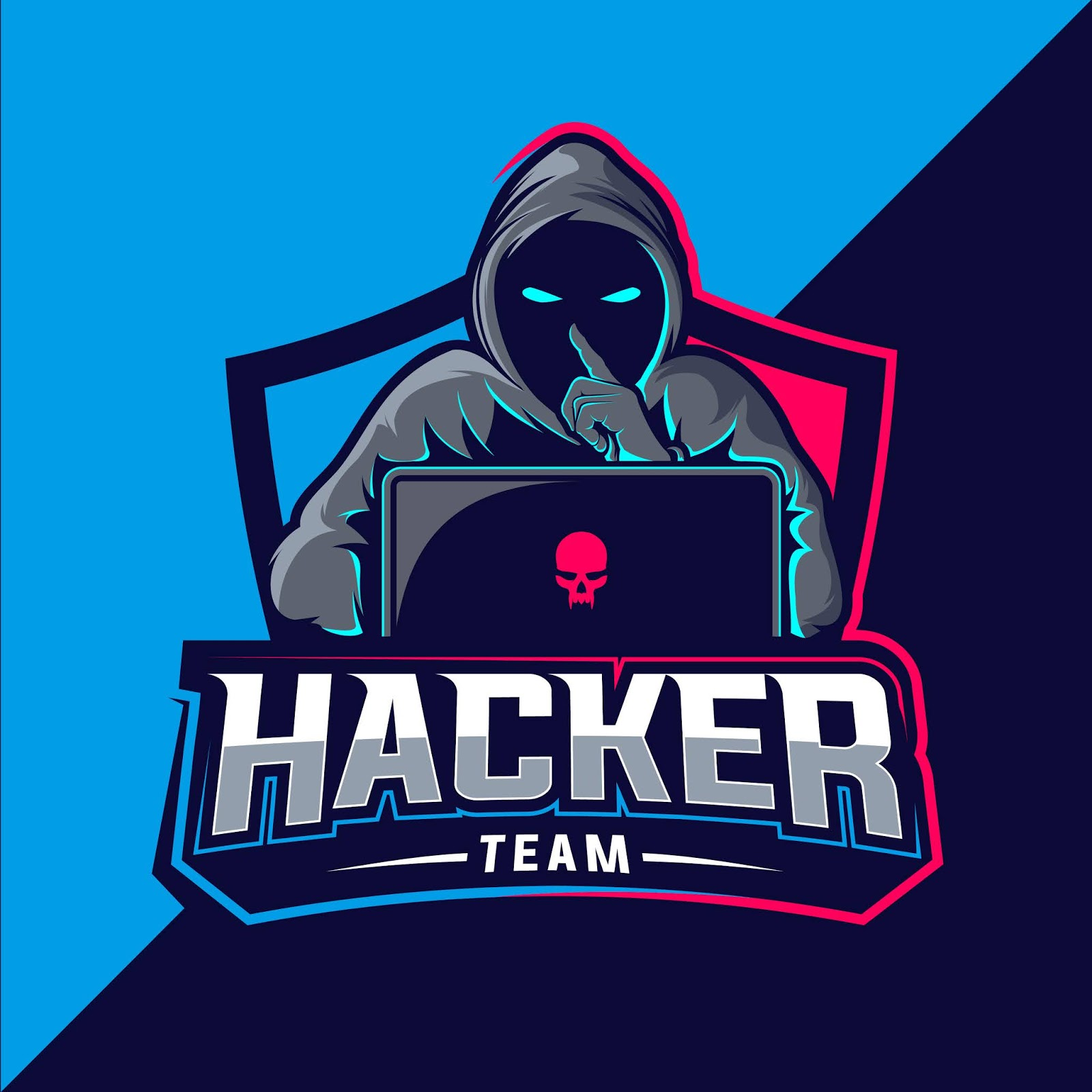 Hacker Team Esport Logo Free Download Vector CDR, AI, EPS and PNG Formats