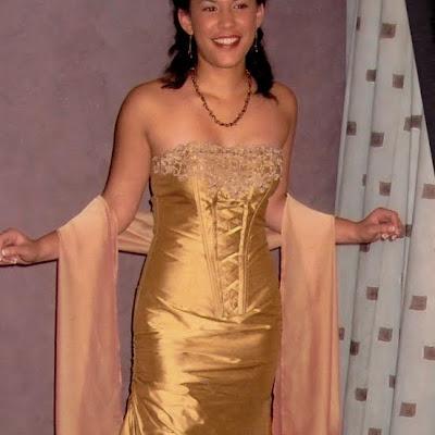 Lorelle - Silk, chiffon, and lace corset and skirt
