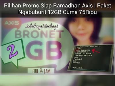 Cara Mengaktifkan Paket Ngabuburit 12GB Axis 2018