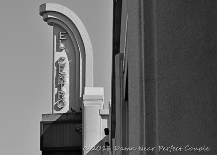 El Centro Sign B&W