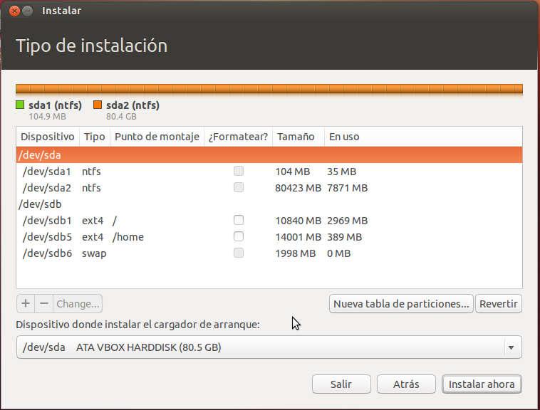 particiones%2520disco%2520duro%2520ubuntu%252012.10 Instalar Ubuntu 12.10 compartido con Windows 7