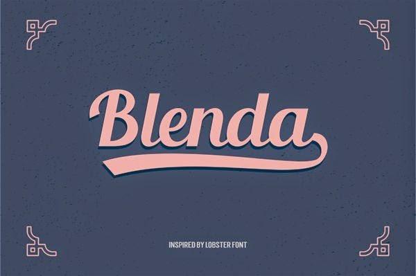 Blenda Script Free Fonts