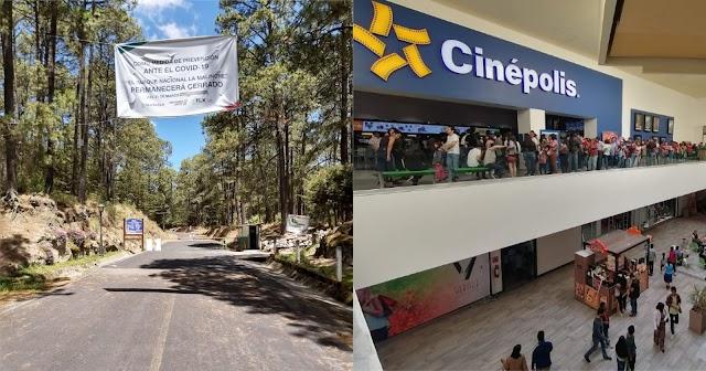 El mundo al revés: Áreas Naturales cerradas y Cines ya están abiertos en Tlaxcala