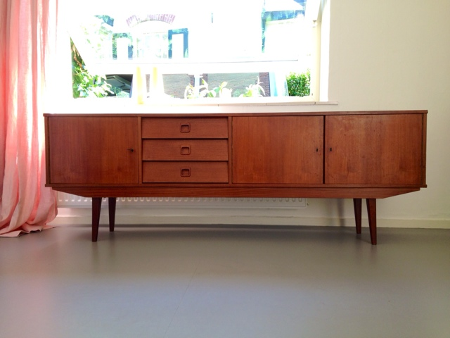 Retro jaren 50 jaren 60 xl retro dressoir long sideboard for Danish design meubels