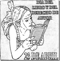 Dia del libro para colorear | 23 de abril día del libro