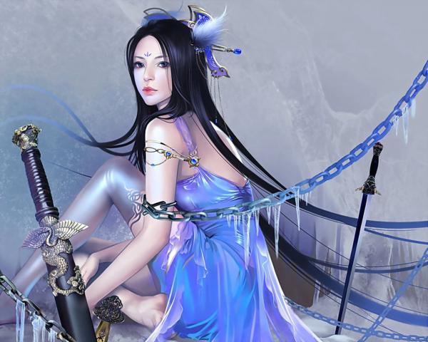 Girl Samurai Of A Sword, Magic Samurai Beauties