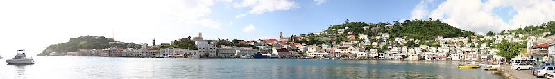 St. George's harbour, Grenada panorama