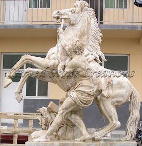 Animal, Exterior, Horses, Ideas, Landscape Decor, Statues