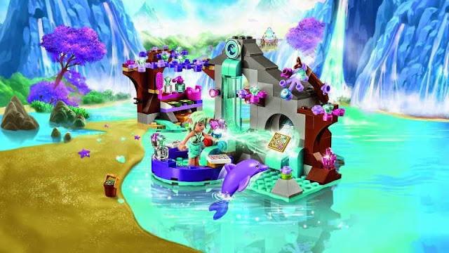Toàn cảnh bộ Lego Elves 41072 Naida's Spa Secret Spa bí mật của Naida